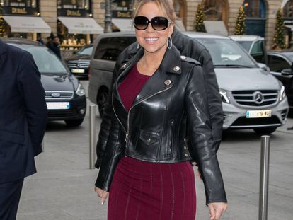 Mariah Carey el fin de semana pasado en París