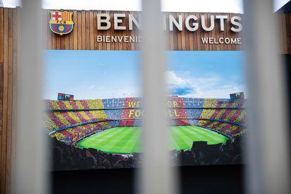 El Camp Nou, cerrado a los turistas y al público por el parón de competición desde el decreto del estado de alarma.