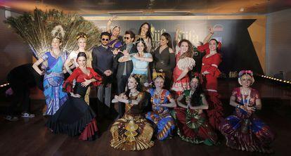 """Presentación de la Gala de entrega de los """"Oscar de Bollywood"""" en Madrid."""