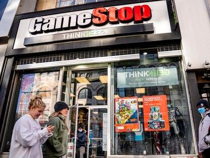 Una tienda de GameStop en Nueva York, el pasado enero.