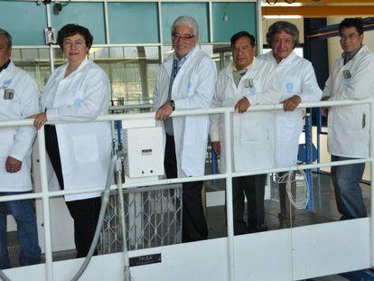 Parte del equipo encargado del único reactor nuclear abierto en México.