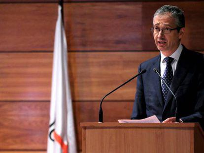 El gobernador del Banco de España, Pablo Hernández de Cos, pronuncia el sábado 31 la conferencia de clausura de los cursos de La Granda, en Asturias.