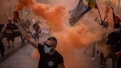 Manifestación de extrema derecha y neonazis en Madrid el pasado 18 de septiembre.