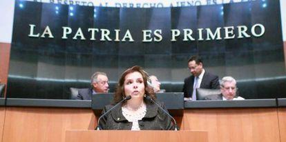 La diputada Selene Vázquez.