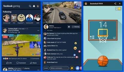 Versión app de Facebook Gaming.