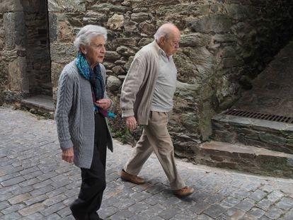Marta Ferrusola y el expresidente catalán Jordi Pujol, en una imagen de archivo.