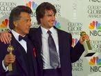 BEVERLY HILLS, CALIFORNIA - JANUARY 19:  Winners Dustin Hoffman and Tom Cruise at Golden Globe Awards Show, January 19, 1997 in Beverly Hills, California. (Photo by Getty Images/Bob Riha, Jr.)