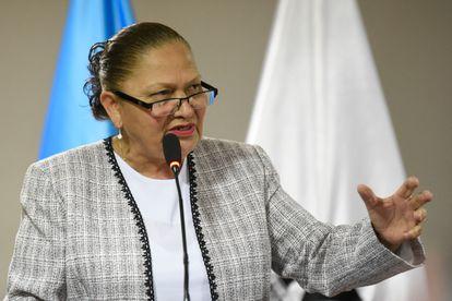 La fiscal general de Guatemala Consuelo Porras en una foto de archivo en una comparecencia en Ciudad de Guatemala.