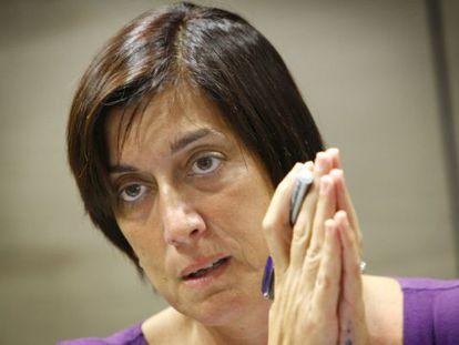 La exgerente de FGV, Marisa Gracia, en su primera comparecencia pública tras el accidente de metro.