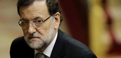 Rajoy, durante el debate.