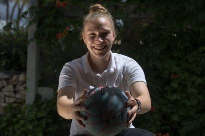 Andrea Pérez, para quien el baloncesto ha sido un camino de superación.
