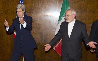 Kerry y Zarif, la semana pasada en Suiza.