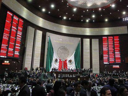 Vista del Congreso mexicano en septiembre pasado.