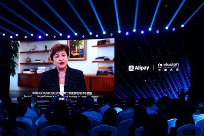 Kristalina Georgieva, directora gerente del FMI, en una conferencia celebrada en Shanghái el pasado 24 de septiembre.