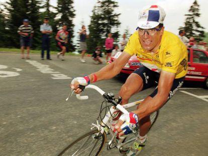 Miguel Indurain, en el Tour de 1995.