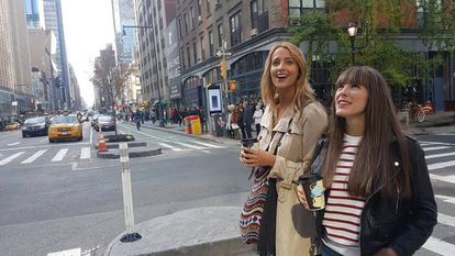 Corina Randazzo y Marta Goikoetxea, en un momento de 'Viajeras con B'.