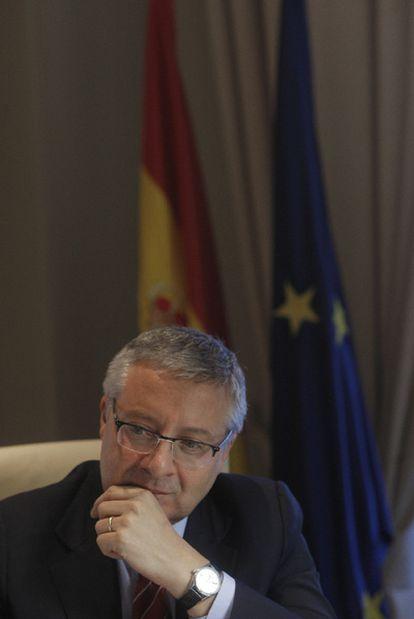 José Blanco, en un momento de la entrevista.