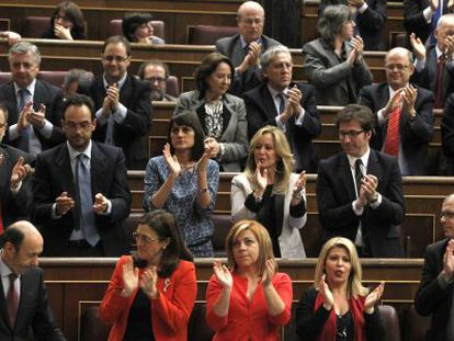 El grupo socialista, el miércoles en el Congreso