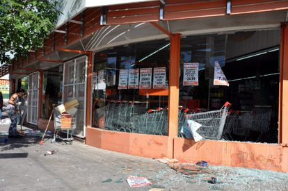 Supermercado asaltado en Córdoba, Argentina