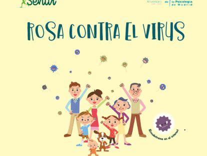 Caratula del libro Rosa contra el virus.
