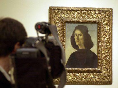 'Retrato de Michele Marullo Tarcaniota', de Botticelli, en el Prado en 2004.