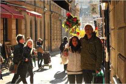 Noemi Boix Chova junto a su marido.