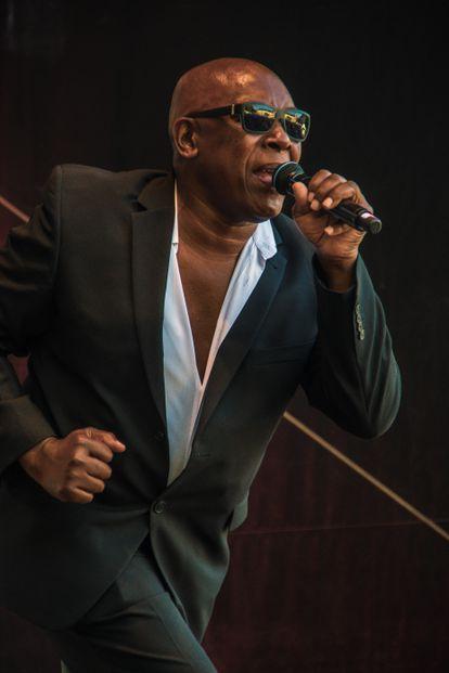John Davis, cantante de Milli Vanilli, en una actuación en Eisenach (Alemania), en 2018.