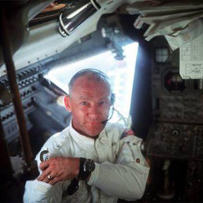 Edwin Buzz Aldrin, durante su misión lunar en 1969.