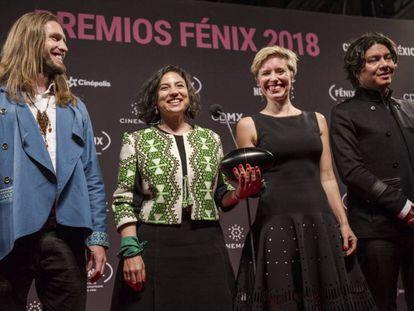 Equipo de 'Pájaros de verano', ganadora en los Premios Fénix de 2018.
