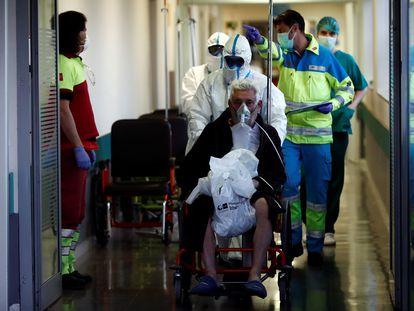 Servicios de urgencias del 26 hospital Infanta Leonor de Madrid, este jueves.