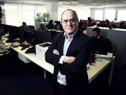Jesús María Ruiz de Arriaga, director general y propietario de Arriaga Asociados, en sus oficinas de Madrid.
