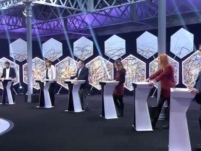 Los candidatos del 14F, en el debate de La Sexta.