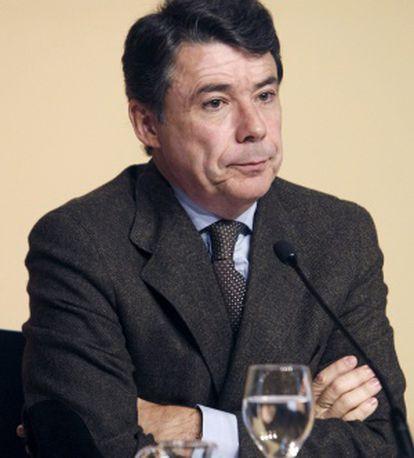 Ignacio González, durante una rueda de prensa.