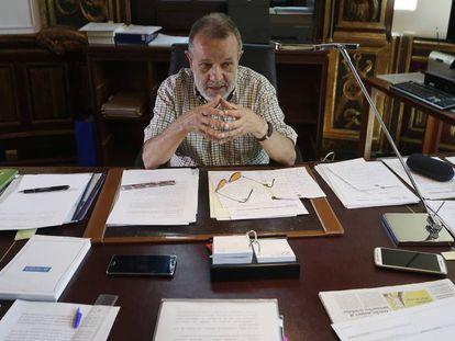 Francisco Fernandez Marugán, defensor del Pueblo en funciones, en julio de 2017 en la sede de la institución.