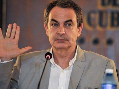 Zapatero, el pasado 26 de Febrero, durante una conferencia en La Habana.