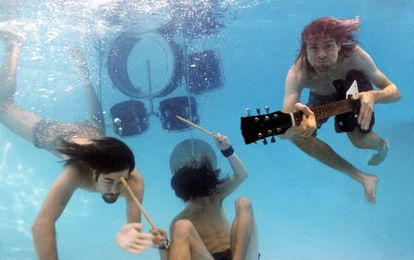 El grupo Nirvana retratados en 1991 para la promoción del disco 'Nevermind'.