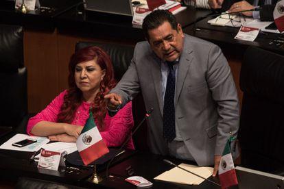 El senador Félix Salgado Macedonio en 2018
