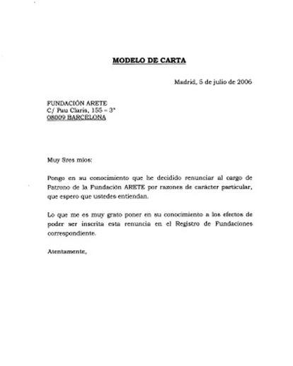 Formulario enviado al duque de Palma para que formalizara su renuncia.