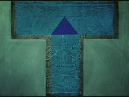 Señal antigua en forma de letra (1969), obra de Vicente Rojo.