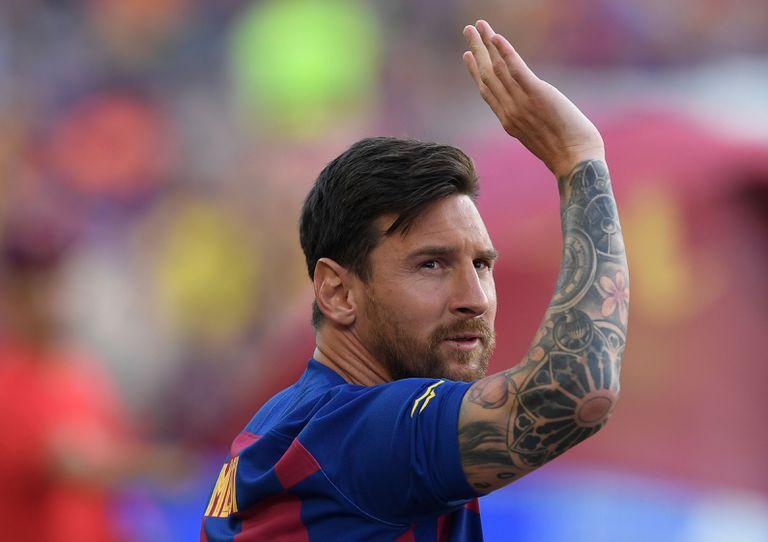Leo Messi, en el Camp Nou.