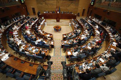 Vista general de la Asamblea de Madrid durante un pleno.