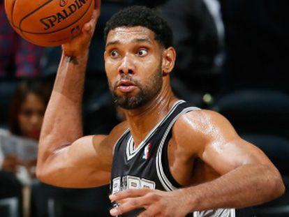 Tim Duncan, durante un partido con los Spurs.