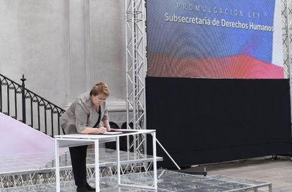 Michelle Bachelet en un acto oficial.