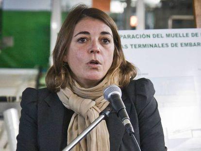 La diputada de IU, Elena Cortés.