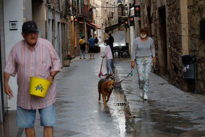 Una calle del centro del municipio de Moià (Barcelona).