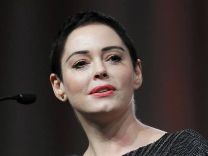 La actriz Rose McGowan en la Convención Anual de Mujeres en Detroit el pasado 27 de octubre.