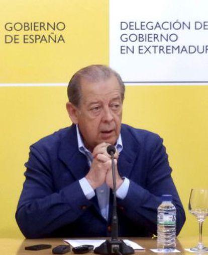 Alejandro Ramírez del Molino, en la rueda de prensa en la que ha anunciado su dimisión.