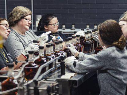 Empleadas de Jack Daniel's en la destilería que la compañía tiene en Lynchburg (Tennessee, EE UU).