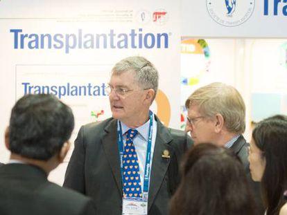 Una conversación durante el anterior congreso de la Sociedad de Transplantes