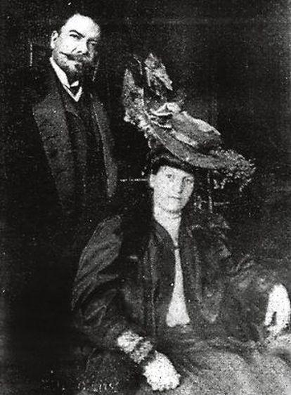 Rubén Darío y Francisca Sánchez.
